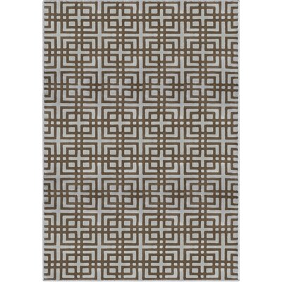 Mayfair Aspire Gray/Brown Area Rug Rug Size: 67 x 98