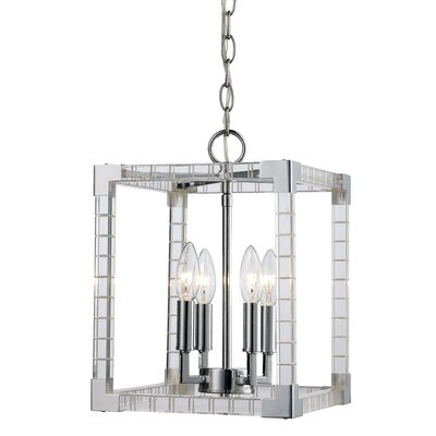 Renhold 4-Light Foyer Pendant Size: 105 H x 10.15 W x 10.15 D