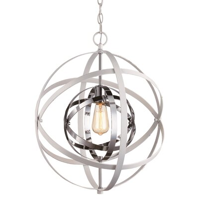Rhinecliff 3-Light Globe Pendant Finish: White/Polished Chrome