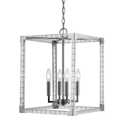 Renhold 4-Light Foyer Pendant Size: 109 H x 14 W x 14 D