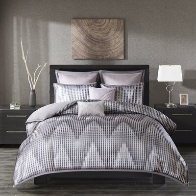 Bowersox 7 Piece Duvet Cover Set Size: Full/Queen, Color: Lavender