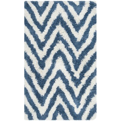 Davey Ivory/Blue Outdoor Area Rug Rug Size: Rectangle 3 x 5