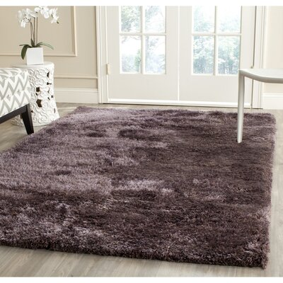 Davey Lavender Shag Rug Rug Size: Rectangle 4 x 6