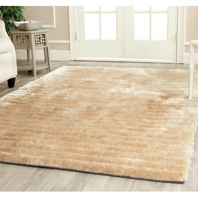 Maya Champagne Shag Rug Rug Size: Rectangle 5 x 8