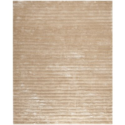 Maya Champagne Shag Rug Rug Size: Rectangle 8 x 10