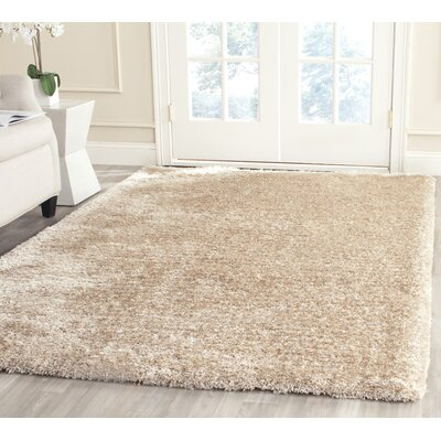 Maya Champagne Shag Area Rug Rug Size: Rectangle 4 x 6