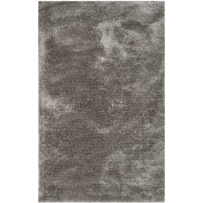 Martha Stewart Shag Black/Gray Area Rug Rug Size: Rectangle 5 x 8