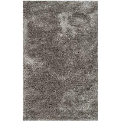 Martha Stewart Shag Black/Gray Area Rug Rug Size: 5' x 8'