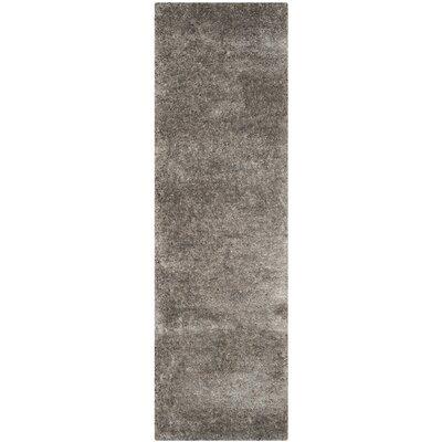 Maya Silver Shag Area Rug Rug Size: Runner 23 x 8