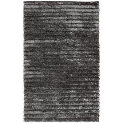 Blanch Silver Shag Area Rug Rug Size: 36 x 56