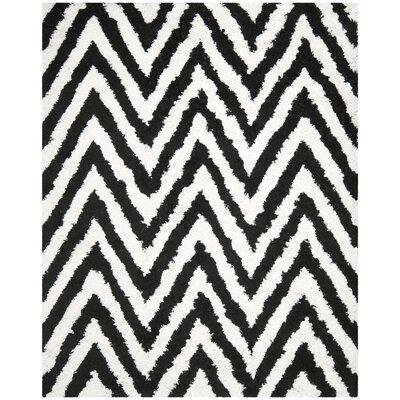 Davey Black Area Rug Rug Size: Rectangle 8' x 10'