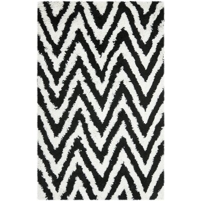 Davey Black Area Rug Rug Size: Rectangle 4' x 6'