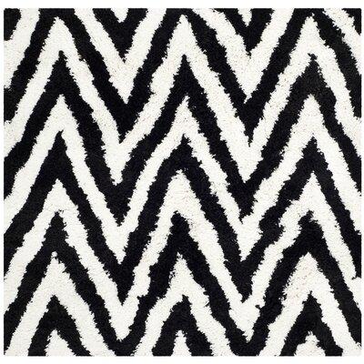 Davey Black Area Rug Rug Size: Square 5