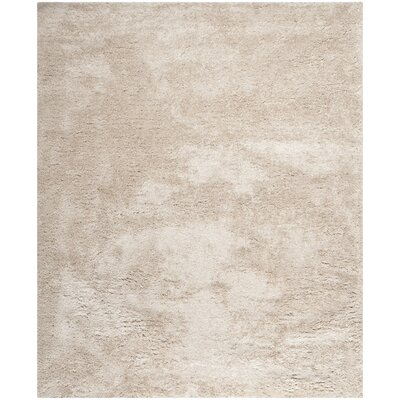 Martha Stewart Shag Champagne Area Rug Rug Size: Rectangle 8 x 10