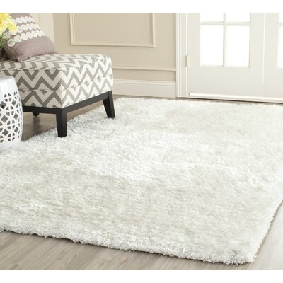 Shag Hand Tufted Ivory Area Rug Rug Size: Rectangle 5 x 8