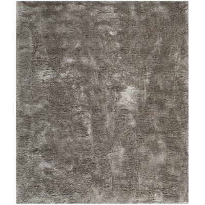 Martha Stewart Shag Black/Gray Area Rug Rug Size: 8 x 10