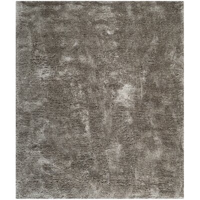 Martha Stewart Shag Black/Gray Area Rug Rug Size: Rectangle 8 x 10