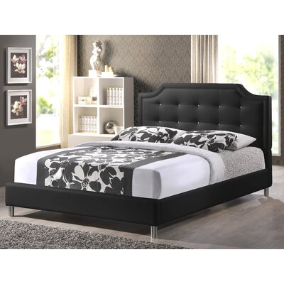 Saito Upholstered Platform Bed Upholstery: Black, Size: King