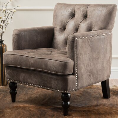 Herve Club Chair Upholstery : Gray Brown