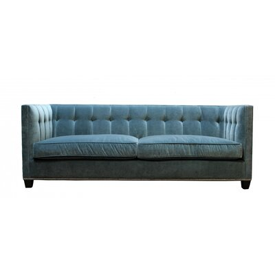 Morgane Chesterfield Sofa Body Fabric: Banks Lagoon