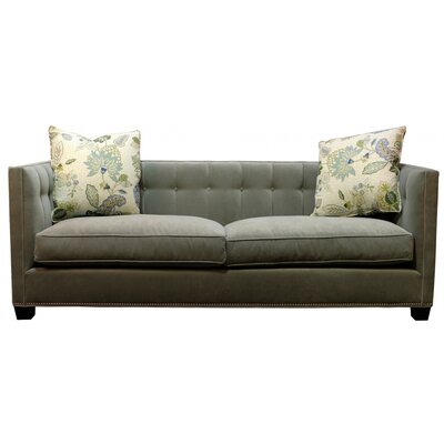 Morgane Chesterfield Sofa Body Fabric: Banks Mineral
