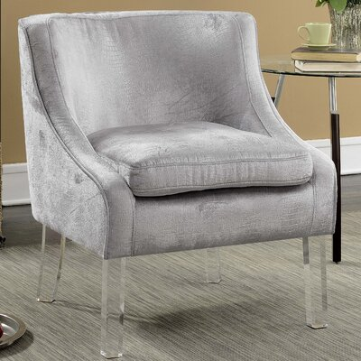 Highworth Accent Side Chair Upholstery: Silver