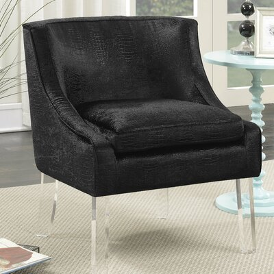 Highworth Accent Side Chair Upholstery: Black