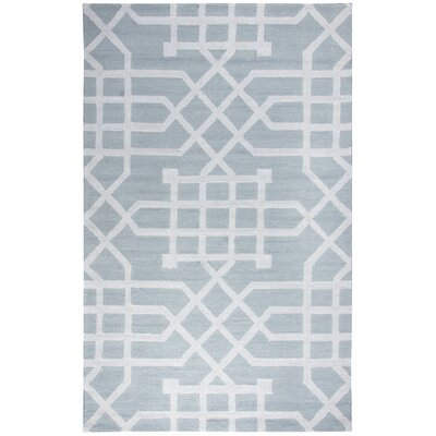 Angela Hand-Tufted Gray/Silver Indoor/Outdoor Area Rug Size: Round 8