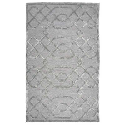 Carpathia Hand-Tufted Gray/Silver Area Rug Size: Rectangle 5 x 8