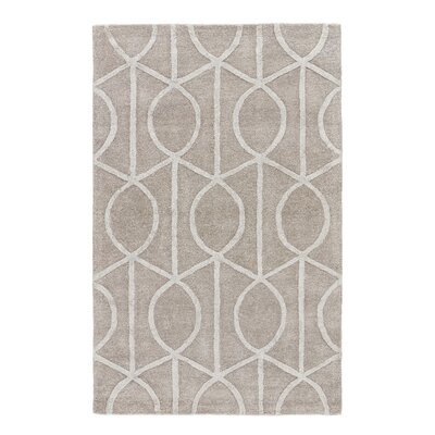 Byrd Hand-Tufted Gray Area Rug Rug Size: Round 8'