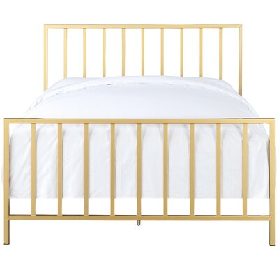 Ackles Slat Metal Queen Panel Bed