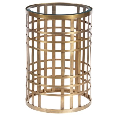 Dravis Metallic End Table