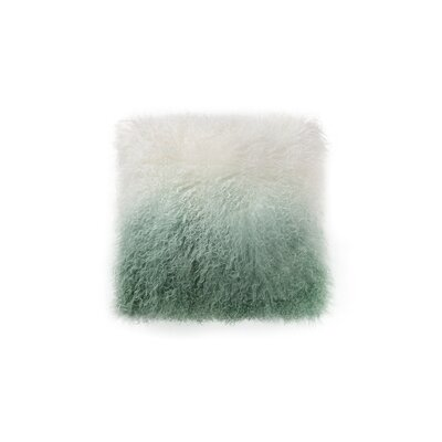 Gosling Lamb Fur Throw Pillow Color: Light Green