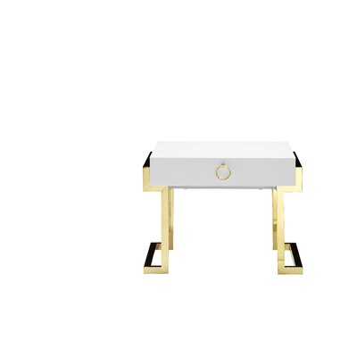 Highlawn End Table Color: White Lacquer