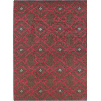 Hewitt Cherry Geometric Area Rug Rug Size: Rectangle 93 x 126
