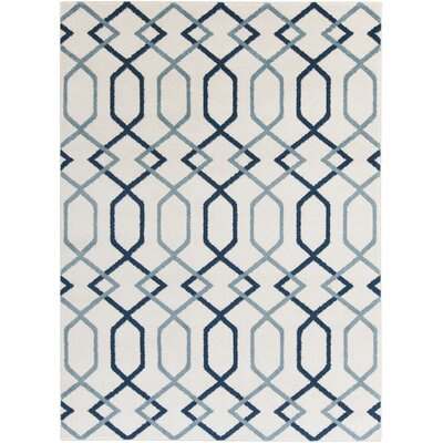 Siclen Blue Area Rug Rug Size: Rectangle 53 x 73