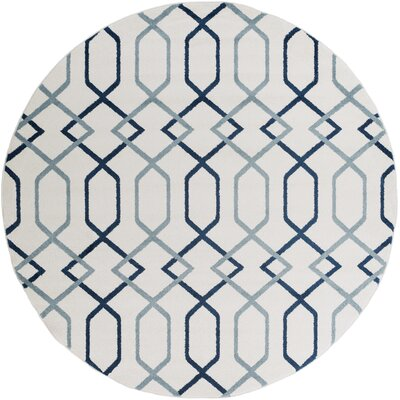 Siclen Blue Area Rug Rug Size: Round 710