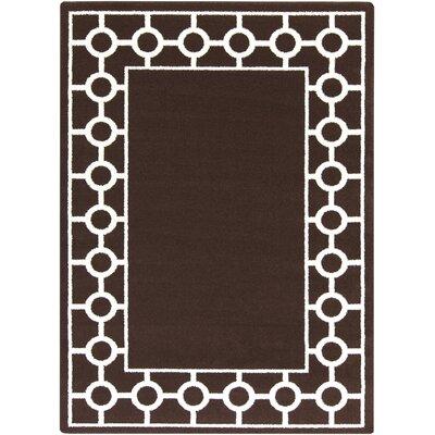 Cearbhall Chocolate Area Rug Rug Size: Rectangle 93 x 126