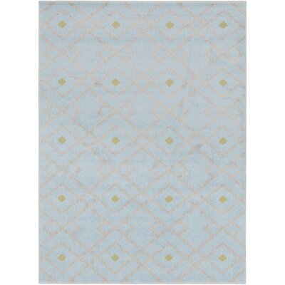Hewitt Slate Geometric Area Rug Rug Size: Rectangle 93 x 126