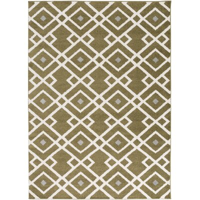 Hewitt Olive Geometric Area Rug Rug Size: Rectangle 93 x 126