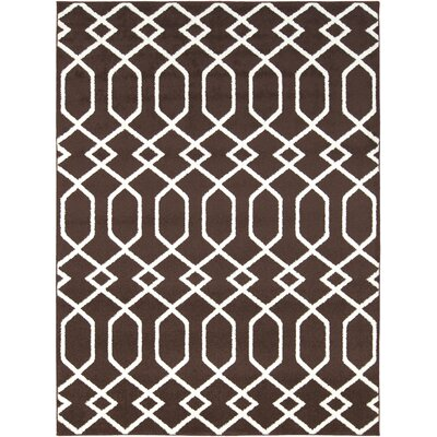 Cearbhall Chocolate/Ivory Area Rug Rug Size: Rectangle 93 x 126