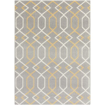 Dufresne Gray Area Rug Rug Size: Rectangle 93 x 126