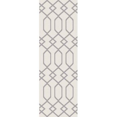 Siclen Ivory/Gray Area Rug Rug Size: Runner 27 x 73