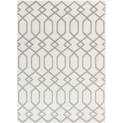 Siclen Ivory/Gray Area Rug Rug Size: Rectangle 53 x 73