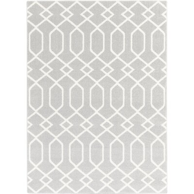 Siclen Gray/Ivory Area Rug Rug Size: Rectangle 67 x 96