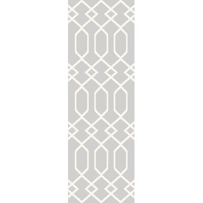 Siclen Gray/Ivory Area Rug Rug Size: Runner 27 x 73