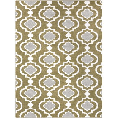 Gerhardt Olive/Ivory Area Rug Rug Size: Rectangle 53 x 73