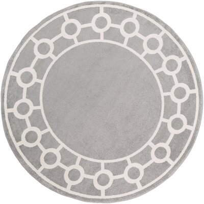 Siclen Gray Area Rug Rug Size: Round 710