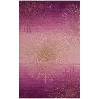 Beaufays Hand-Tufted Pink Area Rug Rug Size: Rectangle 5 x 8