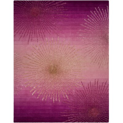 Beaufays Hand-Tufted Pink Area Rug Rug Size: 76 x 96